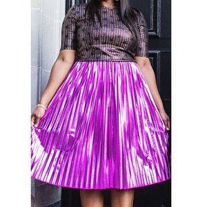 LuLaRoe Jill Skirt Metallic Pleated Elegant